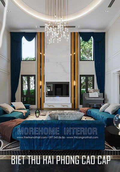 Thiết kế nội thất biệt thự cao cấp tại Hải Phòng