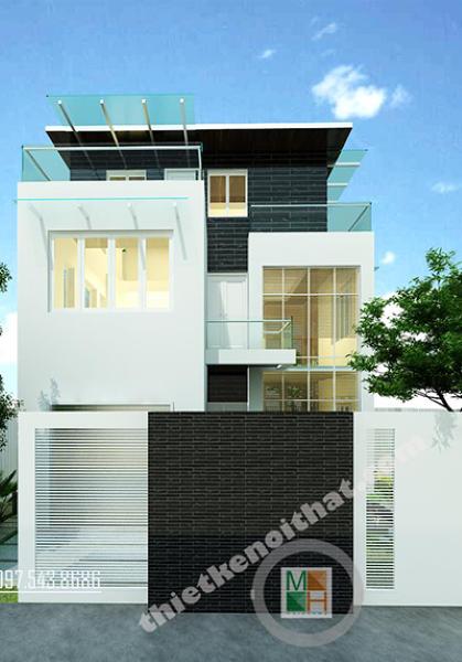 Thiết kế kiến trúc và nội thất biệt thự hiện đại tại Văn Khê Hà Đông