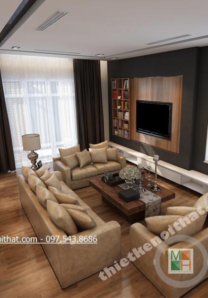 Thiết kế nội thất biệt thự hiện đại tại Huyndai HillState - Chị Loan