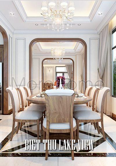 Thiết kế nội thất biệt thự Lake View Q2 phong cách Gỗ Việt