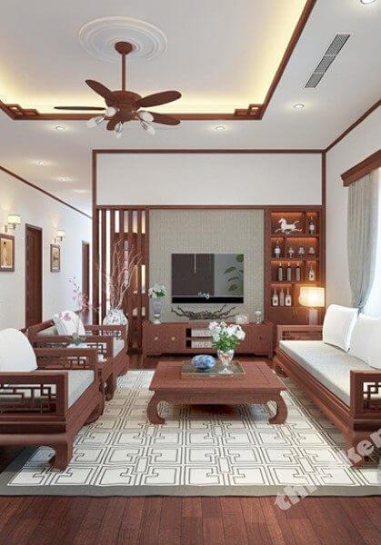 Thiết kế nội thất biệt vườn đẹp tại Củ Chi Sài Gòn - Chú Nguyệt