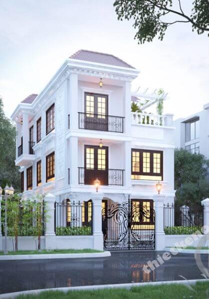 Thiết kế kiến trúc biệt thự tân cổ điển tại Phú Mỹ Hưng, Hồ Chí Minh