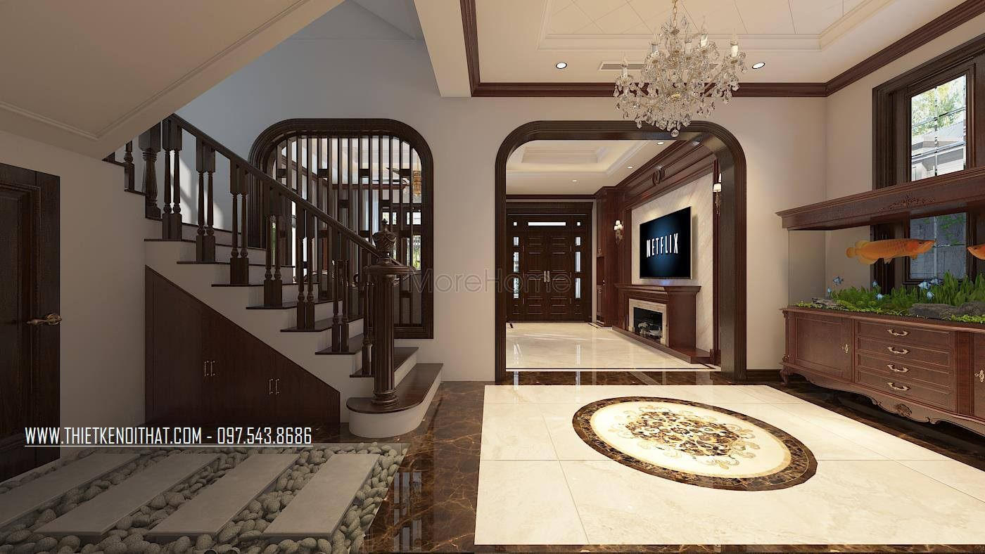 Thiết kế nội thất biệt thự thành phố giao lưu