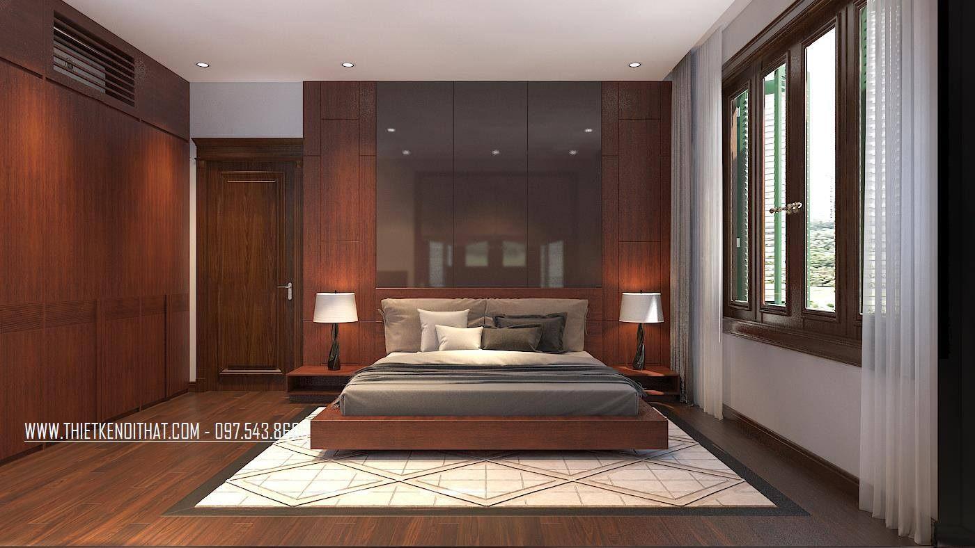 Thiết kế nội thất phòng ngủ biệt thự thành phố giao lưu