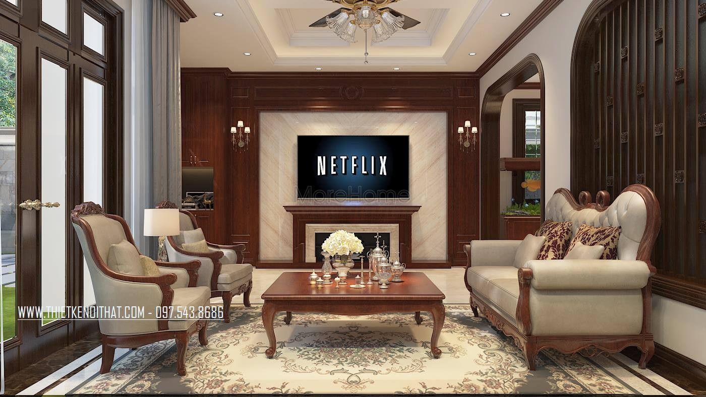 Sofa tân cổ điển đẹp cho biệt thự tại thành phố giao lưu