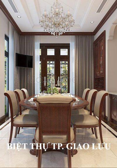 Thiết kế nội thất biệt thự tân cổ điển đẹp tại thành phố Giao Lưu Hà Nội.