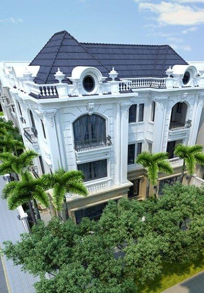 Thiết kế kiến trúc biệt thự sang trọng tại KĐT Xuân Phương tân cổ điển