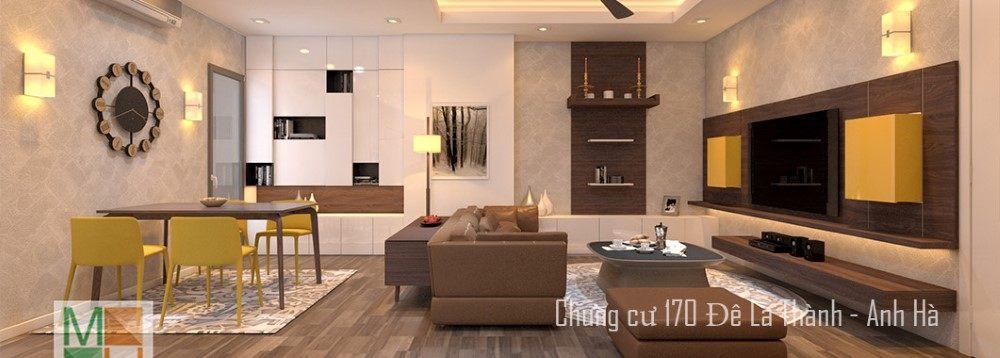 Thiết kế nội thất chung cư 170 Đê La Thành