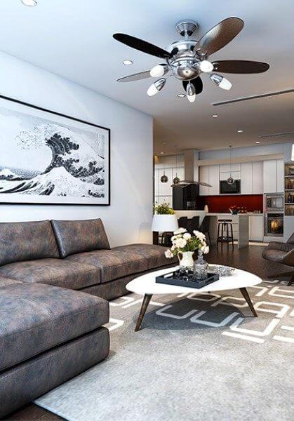 Thiết kế nội thất căn hộ chung cư Mandarin Garden Hòa Phát - Anh Khoa