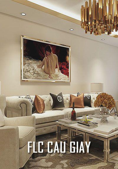 Thiết kế nội thất chung cư FLC Cầu Giấy - không gian đẹp, tinh tế
