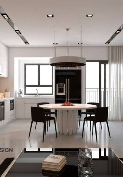 Thiết kế nội thất căn hộ chung cư hiện đại giảng võ