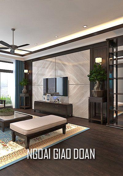 Thiết kế nội thất chung cư Ngoại Giao Đoàn phong cách gỗ việt