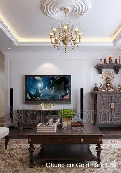 Thiết kế thi công nội thất căn hộ chung cư Goldmark City - Chị Hạnh