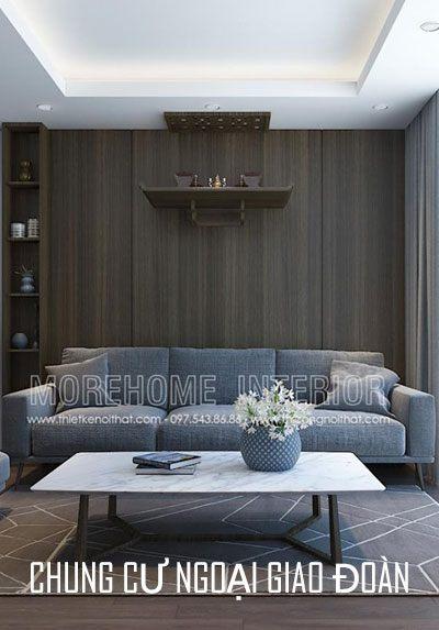 Thiết kế nội thất chung cư Ngoại Giao Đoàn gỗ An Cường cao cấp
