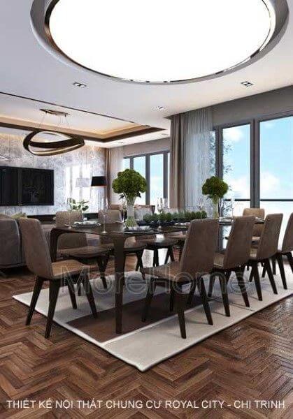 Thiết kế nội thất căn hộ chung cư Royal City- chị Trinh đẳng cấp với 3 phòng ngủ