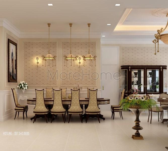 Thiết kế nội thất căn hộ chung cư tân cổ điển cao cấp tại KEANGNAM