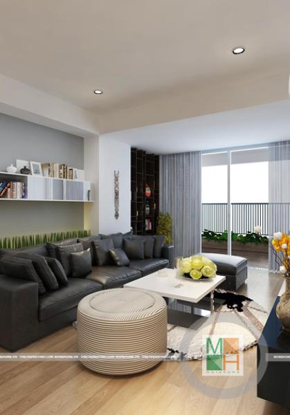 Thiết kế nội thất chung cư hiện đại Mipec - anh Minh