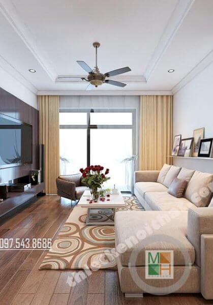 Thiết kế nội thất căn hộ chung cư Timescity phong cách hiện đại tòa T2