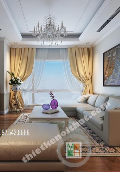 Thiết kế nội thất căn hộ chung cư Royal City - Nhà Anh Vinh
