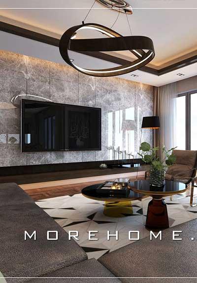Đá ốp trang trí tường phòng khách đẹp, sang trọng cho chung cư, biệt thự