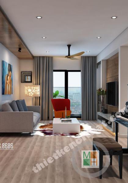Thiết kế nội thất căn hộ chung cư Tây Hà hiện đại - Nhà Mr Thăng