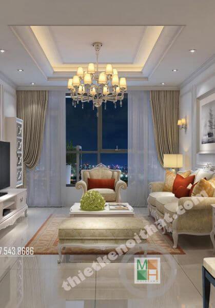Thiết kế nội thất Chung cư Thăng Long Number One Tân cổ điển - Mrs. Diên.