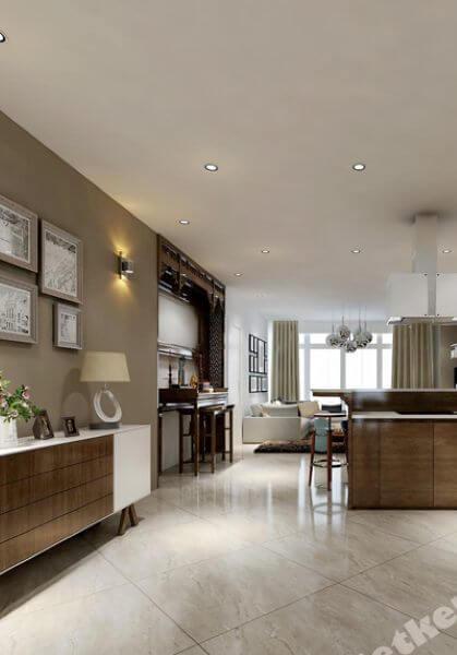 Thiết kế nội thất căn hộ chung cư Hoàng Kim Sài Gòn - Nhà chị Phượng - 145m2