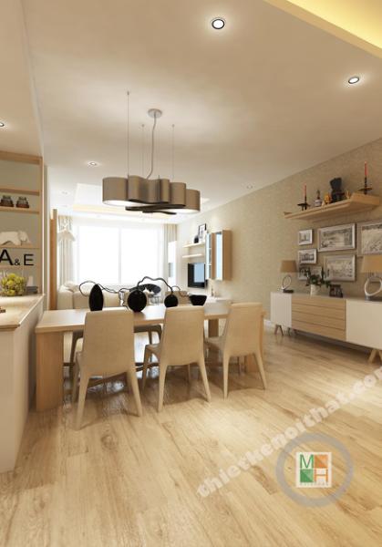Thiết kế nội thất căn hộ chung cư Sài Gòn Pearl - Bình Thạnh - Sài Gòn