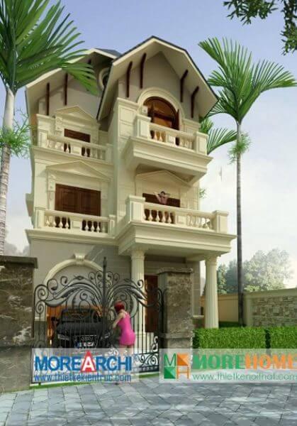 Thiết kế kiến trúc và nội thất biệt thự tân cổ điển cao cấp tại Mỹ Đình Hà Nội