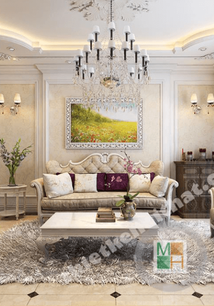 Thiết kế nội thất chung cư Thăng Long Number One - Nhà Chị Phương