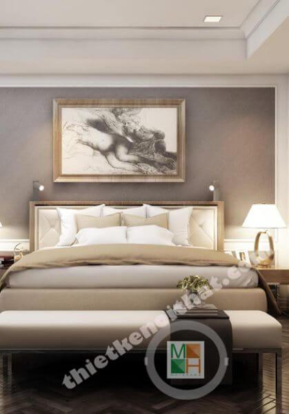 Thiết kế nội thất chung cư tân cổ điển tại Căn hộ Big CTP Vinh - Mrs. Thúy Ngọc