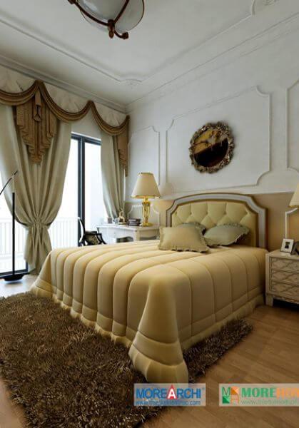 Thiết kế nội thất biệt thự tân cổ điển châu Âu cao cấp tại Vinhomes RiverSide.