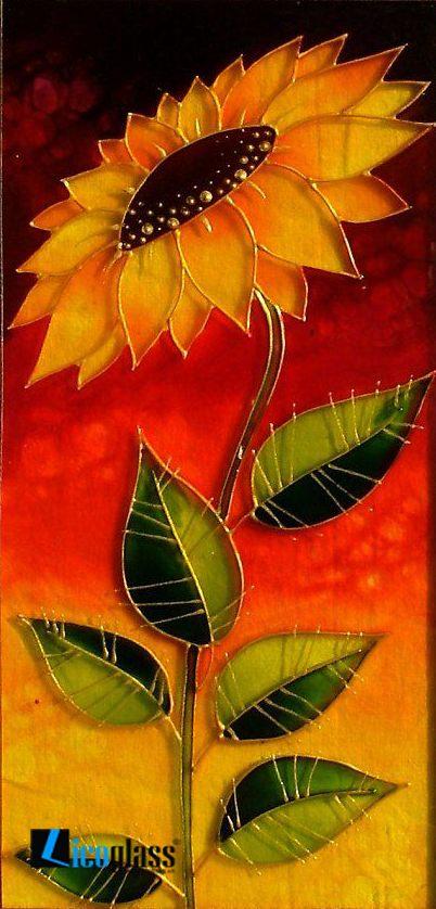 Tranh kính hoa hướng dương - mẫu 25
