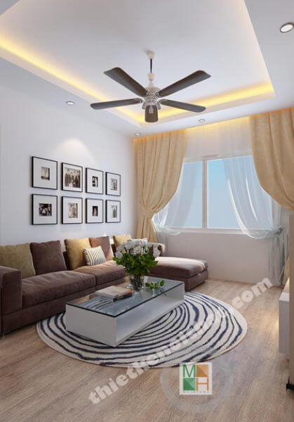 Thiết kế nội thất chung cư cao cấp tại Hồ Gươm hiện đại - Anh Viễn
