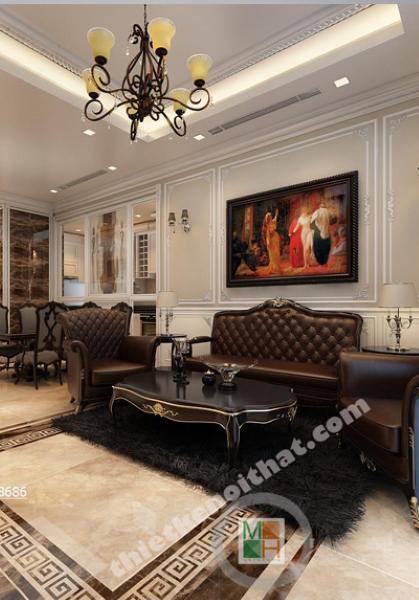 Thiết kế nội thất chung cư Vincom cao cấp - Nhà anh Doanh
