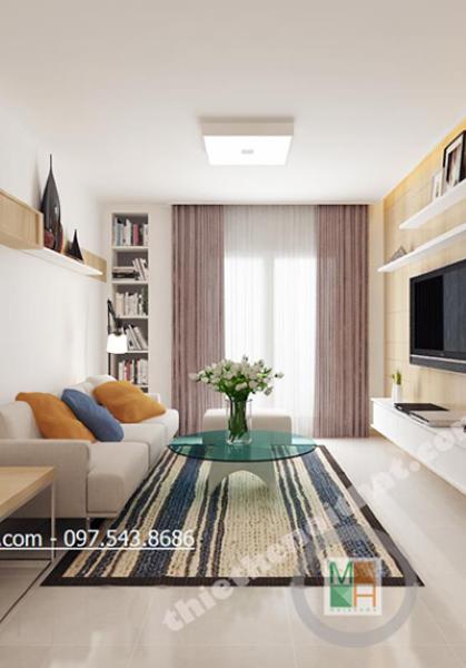 Thiết kế chung cư cao cấp Golden Palace căn hộ mẫu B3