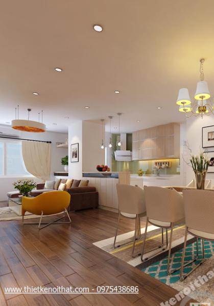 Thiết kế nội thất căn hộ chung cư Hapulico - Nhà chị Hằng