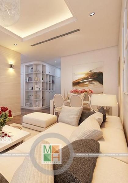 Thiết kế chung cư Golden Palace Mễ Trì - Nhà chị Trang Dung