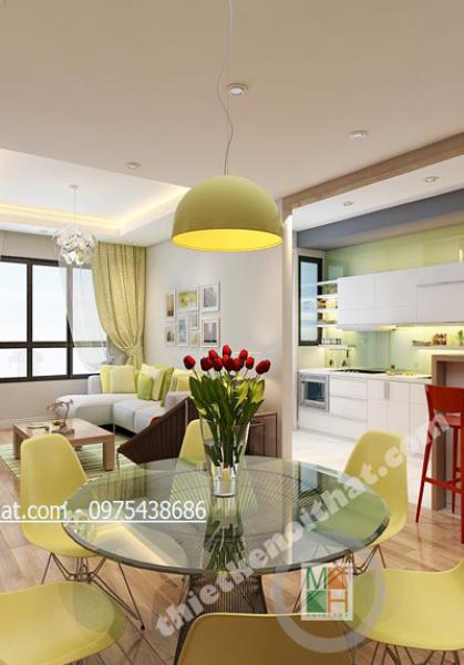 Thiết kế nội thất căn hộ chung cư cao cấp Mulberry Lane - Anh Tiến