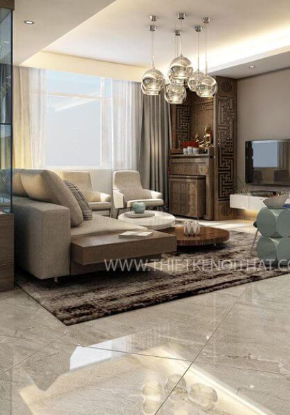 Thiết kế nội thất chung cư CT3 Nam Cường, Khu đô thị cổ nhuế - Mr Đức