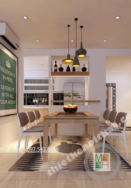 Thiết kế nội thất chung cư Mulberrylane - Nhà chị Mai