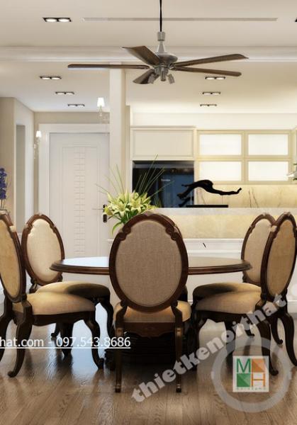 Thiết kế nội thất chung cư cao cấp Royal City tân cổ điển - Chị Hiền