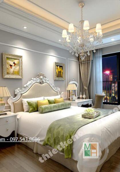 Thiết kế chung cư Hà Đô ParkView - Anh Nhật phong cách tân cổ điển