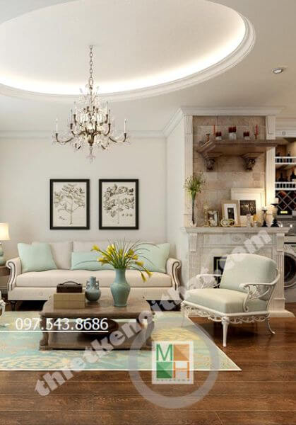 Thiết kế căn hộ chung cư TimesCity Tân cổ điển đẹp, sang trọng - Anh Vân
