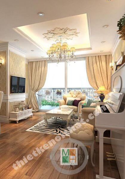 Thiết kế chung cư Phú Gia Residence - Nguyễn Huy Tưởng - chị Vân Anh