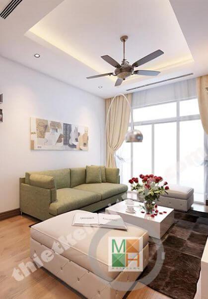 Thiết kế nội thất chung cư Hồ Gươm - B2005 - Chị Thủy