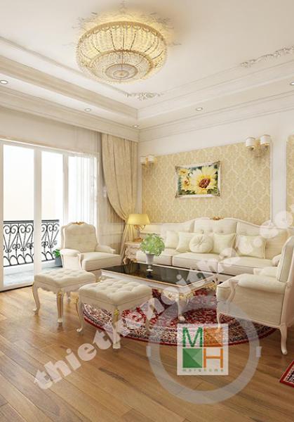 Thiết kế nội thất chung cư Tân cổ điển TimesCity-Chị Hà Anh