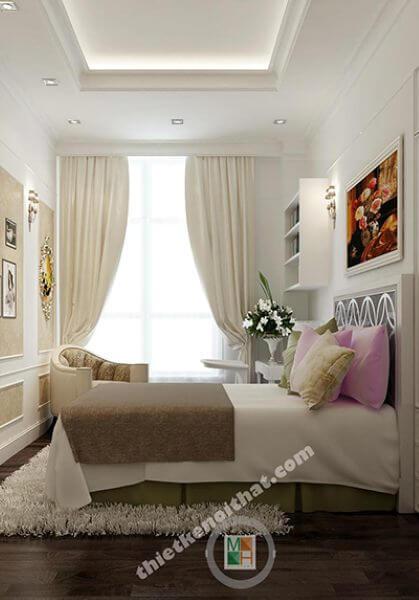 Thiết kế nội thất penthouse tại The Manor phong cách tân cổ điển đẹp