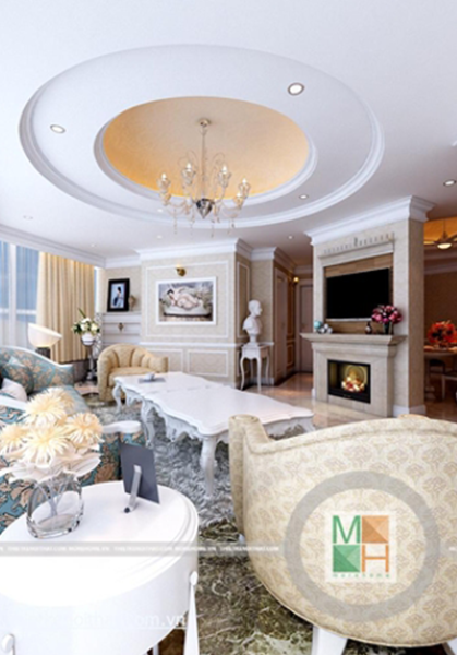 Thiết kế chung cư phong cách tân cổ điển - KeangNam 2408 Mr Tuấn
