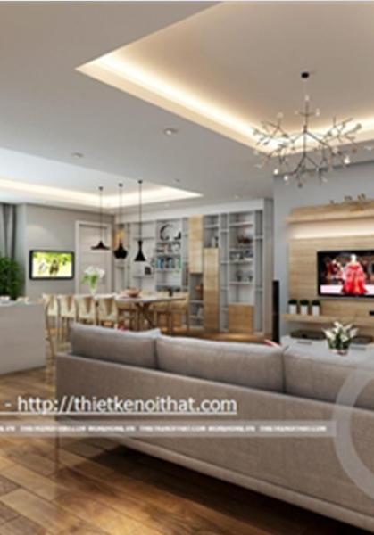 Thiết kế nội thất chung cư Chợ Mơ, Hà Nội hiện đại, tiện nghi - [Mr Công]